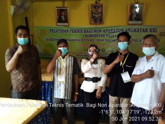 Sambut Baik Food Estate, Kementan Latih Kelompok Tani Tanjung Jabung Timur Dengan Pelatihan Teknis Komoditas Padi